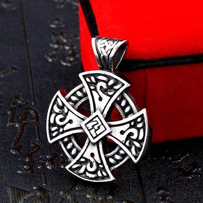 Pendant Necklaces BEIER wholesale stainless steel viking Vegvisir and Raven Skull Amulet Pendant Necklace Original Cross Jewelry for men BP8 113|Pendant Necklaces| Ancient Treasures Ancientreasures Viking Odin Thor Mjolnir Celtic Ancient Egypt Norse Norse Mythology