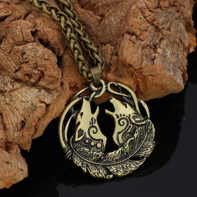 Geri And Freki Amulet Necklace