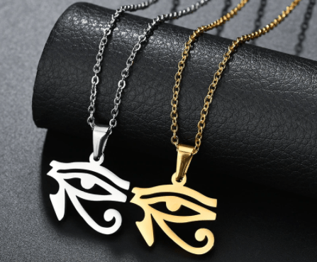 Pendant Necklaces ELSEMODE Holy 316L Stainless Steel Ancient Egyptian Eye of Horus Amulet Necklaces for Women Men Gold Steel Color Charm Jewelry|Pendant Necklaces| Ancient Treasures Ancientreasures Viking Odin Thor Mjolnir Celtic Ancient Egypt Norse Norse Mythology