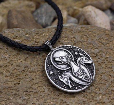 Pendant Necklaces Silver Plated youe shone Double side viking talisman Celtic Knot hound dog pendant necklace Pagan jeverly Ancient Treasures Ancientreasures Viking Odin Thor Mjolnir Celtic Ancient Egypt Norse Norse Mythology