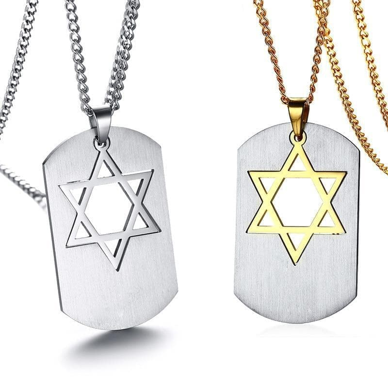 "Pendant Necklaces Vnox Detachable Star of David Pendant Necklace Stainless Steel Metal Gold|star of david pendant|star of david24"" chain Ancient Treasures Ancientreasures Viking Odin Thor Mjolnir Celtic Ancient Egypt Norse Norse Mythology"