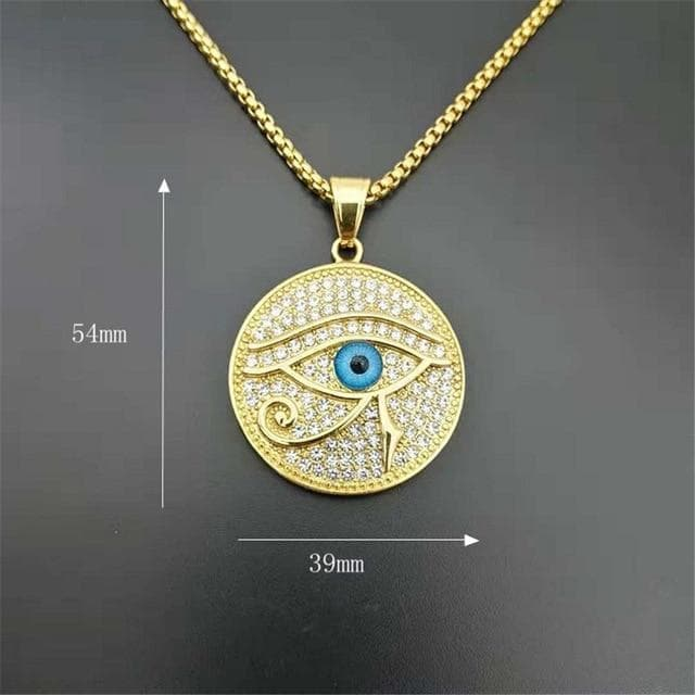 Pendants & Necklaces 50 cm (19 in) Ancient Egypt The Eye Of Horus Pendant Necklace Ancient Treasures Ancientreasures Viking Odin Thor Mjolnir Celtic Ancient Egypt Norse Norse Mythology