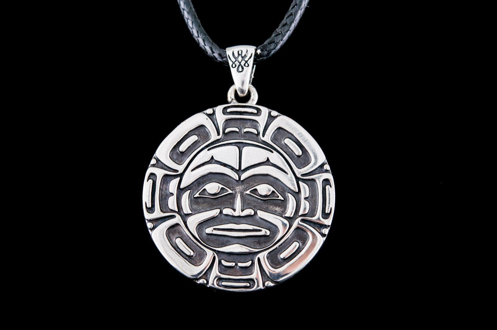 Pendants & Necklaces Aztec Sun God Sterling Silver Handcrafted Pendant Ancient Treasures Ancientreasures Viking Odin Thor Mjolnir Celtic Ancient Egypt Norse Norse Mythology