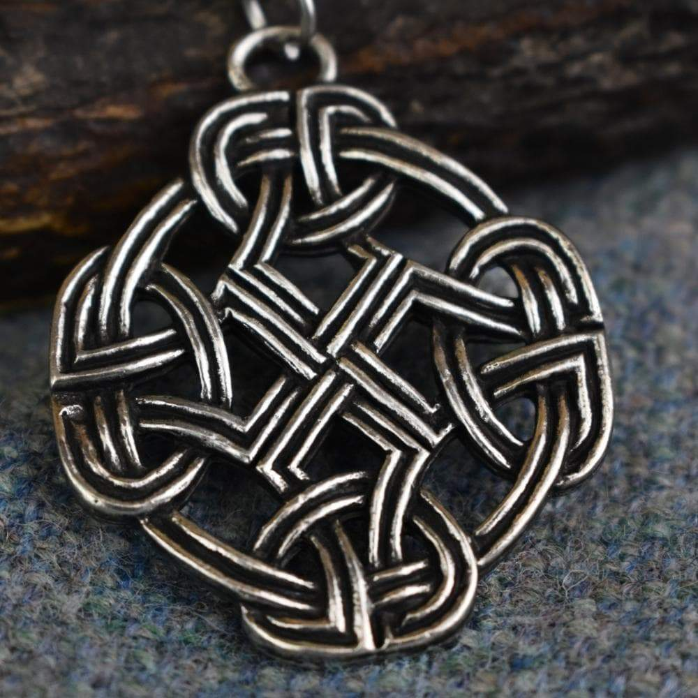 Celtic Eternity Knot Cross Pewter Pendant