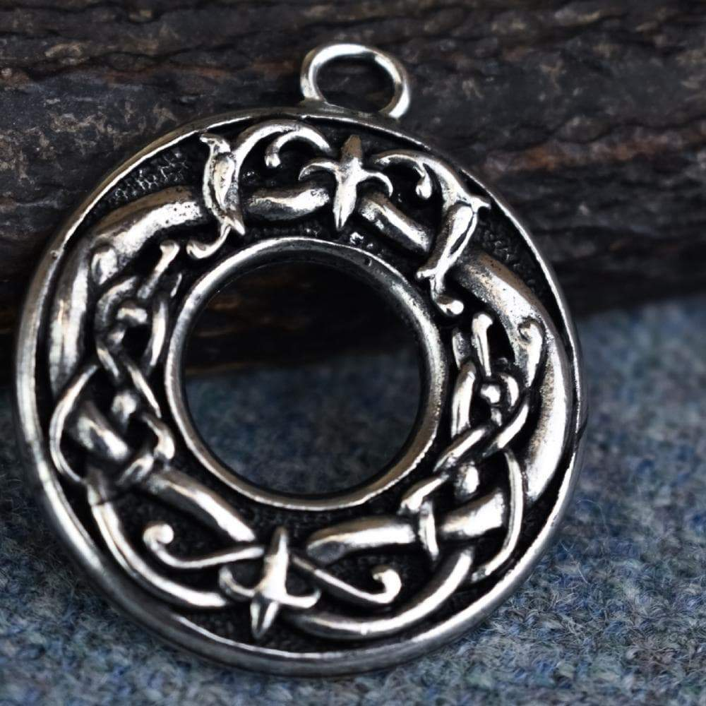 Pendants & Necklaces Celtic Viking Knotted Beasts Ring Pewter Pendant Ancient Treasures Ancientreasures Viking Odin Thor Mjolnir Celtic Ancient Egypt Norse Norse Mythology