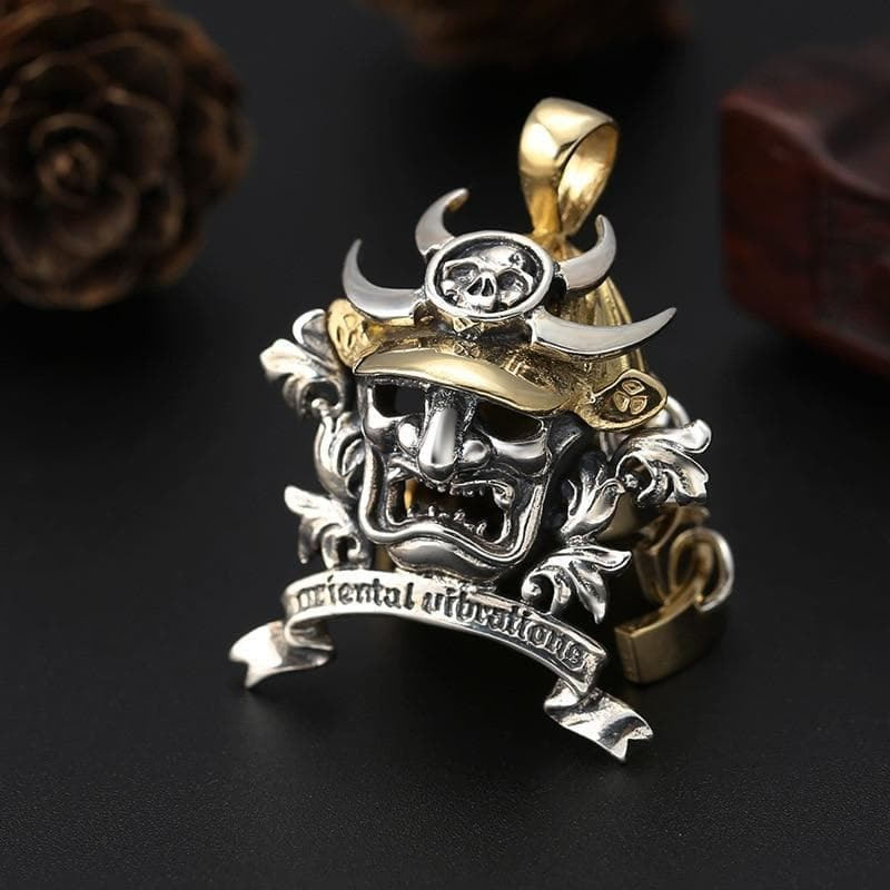 Pendants & Necklaces Feudal Japan Samurai Skull Armor Helmet Sterling Silver Pendant Ancient Treasures Ancientreasures Viking Odin Thor Mjolnir Celtic Ancient Egypt Norse Norse Mythology