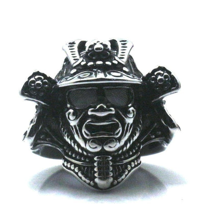 Feudal Japan Samurai Warrior Mask Stainless Steel Pendant