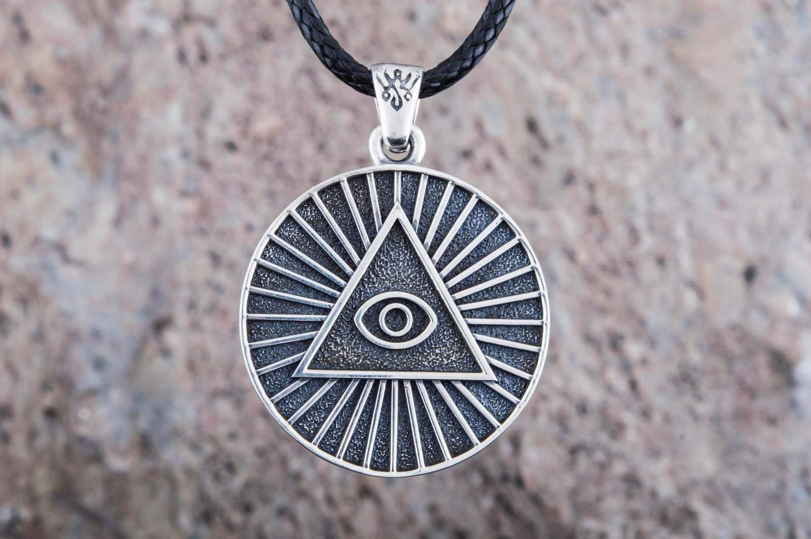 Pendants & Necklaces Masonic All Seeing Eye Sterling Silver Handmade Pendant Ancient Treasures Ancientreasures Viking Odin Thor Mjolnir Celtic Ancient Egypt Norse Norse Mythology