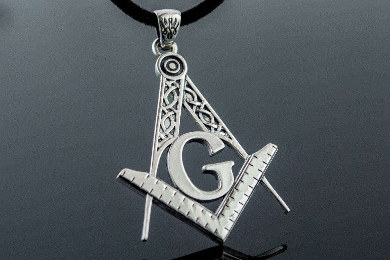 Pendants & Necklaces Masonic Square & Compass Sterling Silver Handcrafted Pendant Ancient Treasures Ancientreasures Viking Odin Thor Mjolnir Celtic Ancient Egypt Norse Norse Mythology