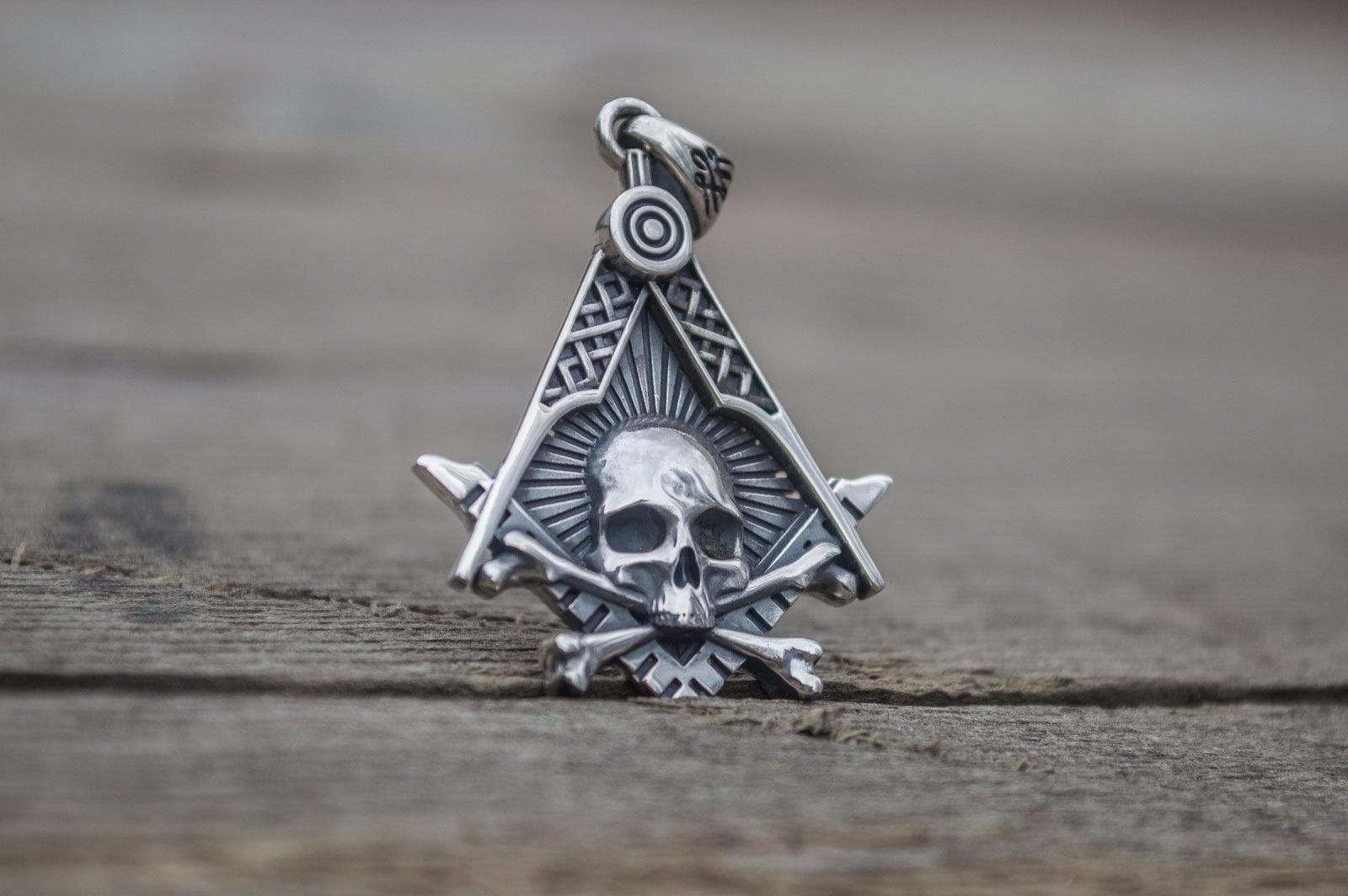 Pendants & Necklaces Masonic Symbol with Skul Sterling Silver Handcrafted Pendant Ancient Treasures Ancientreasures Viking Odin Thor Mjolnir Celtic Ancient Egypt Norse Norse Mythology