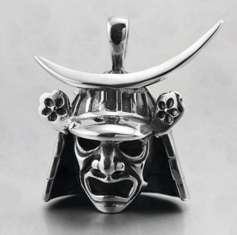 Pendants & Necklaces Pendant Only Feudal Japan Samurai Helmet Mask Pendant and Necklace Ancient Treasures Ancientreasures Viking Odin Thor Mjolnir Celtic Ancient Egypt Norse Norse Mythology