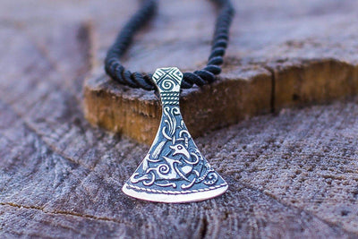 Pendants & Necklaces Viking Axe Small Pendant with Mammen Style Ornament Ancient Treasures Ancientreasures Viking Odin Thor Mjolnir Celtic Ancient Egypt Norse Norse Mythology