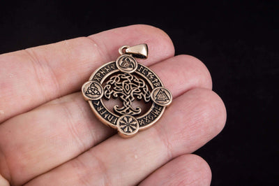 Pendants & Necklaces Viking Yggdrasil Pendant with Norse Symbols & Runes Ancient Treasures Ancientreasures Viking Odin Thor Mjolnir Celtic Ancient Egypt Norse Norse Mythology