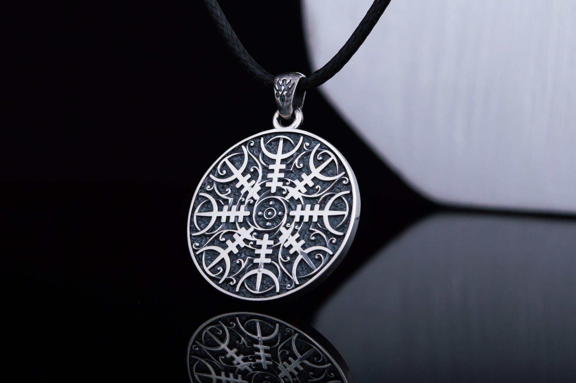 Vikings Helm of Awe Sterling Silver Pendant
