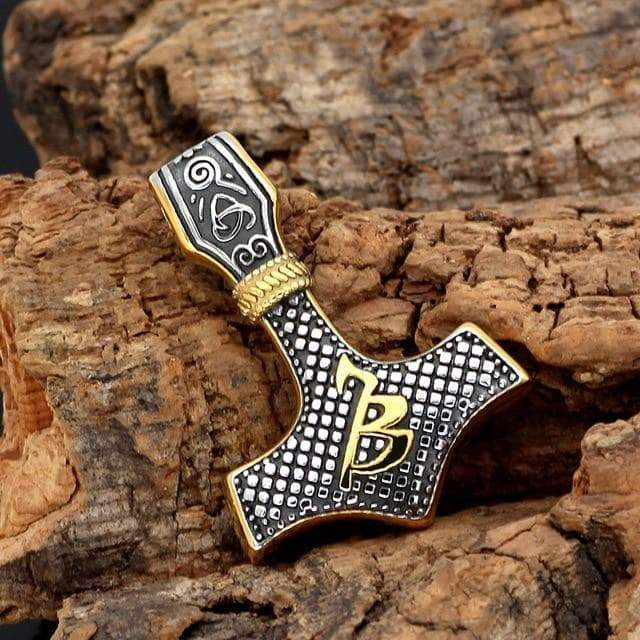 Pendants & Necklaces Vikings Mjolnir with Runes & Viking Symbols Pendant & Necklace Ancient Treasures Ancientreasures Viking Odin Thor Mjolnir Celtic Ancient Egypt Norse Norse Mythology