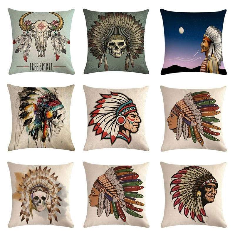 Pillows Native American 45x45cm Pillow Covers Ancient Treasures Ancientreasures Viking Odin Thor Mjolnir Celtic Ancient Egypt Norse Norse Mythology