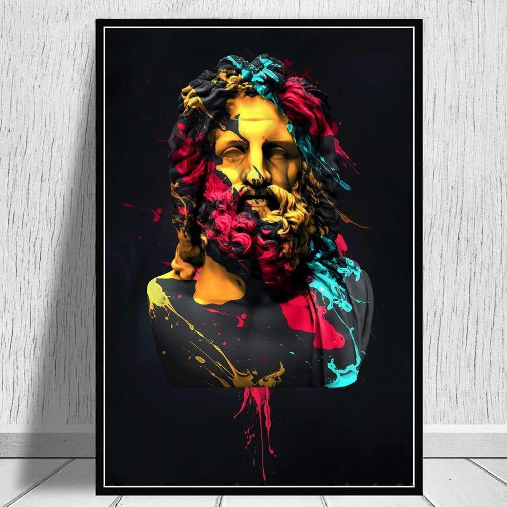 Posters & Canvases Ancient Greek God Zeus Sculpture Oil Painting On Canvas Wall Art Ancient Treasures Ancientreasures Viking Odin Thor Mjolnir Celtic Ancient Egypt Norse Norse Mythology