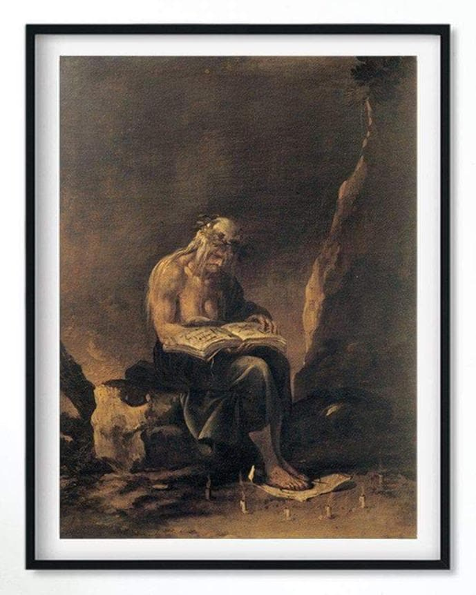 "Posters & Canvases Wiccan ""A Witch"" Salvator Rosa Canvas Art Poster Ancient Treasures Ancientreasures Viking Odin Thor Mjolnir Celtic Ancient Egypt Norse Norse Mythology"