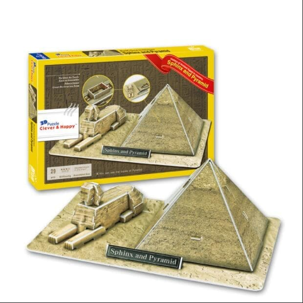 Puzzles Ancient Egypt Sphinx and Pyramid Architectural 3D Paper Jigsaw Puzzle Ancient Treasures Ancientreasures Viking Odin Thor Mjolnir Celtic Ancient Egypt Norse Norse Mythology