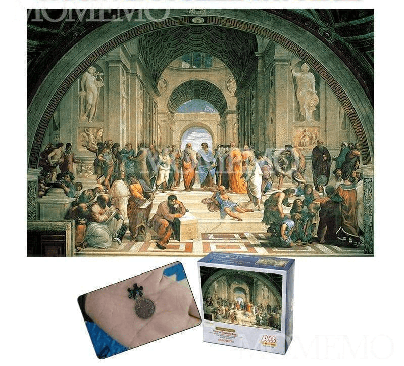 "Puzzles Ancient Greece ""The School of Athens"" 1000 Pieces Mini Jigsaw Puzzle Ancient Treasures Ancientreasures Viking Odin Thor Mjolnir Celtic Ancient Egypt Norse Norse Mythology"