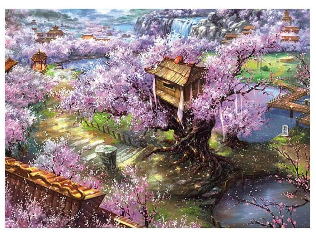 Puzzles Feudal Japan Season of Cherry Blossom 1000 Piece Jigsaw Puzzle Ancient Treasures Ancientreasures Viking Odin Thor Mjolnir Celtic Ancient Egypt Norse Norse Mythology