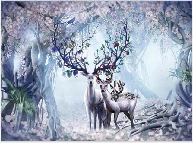 Puzzles Wiccan Enchanted Forest Deers 1000 Pieces Jigsaw Puzzle Ancient Treasures Ancientreasures Viking Odin Thor Mjolnir Celtic Ancient Egypt Norse Norse Mythology