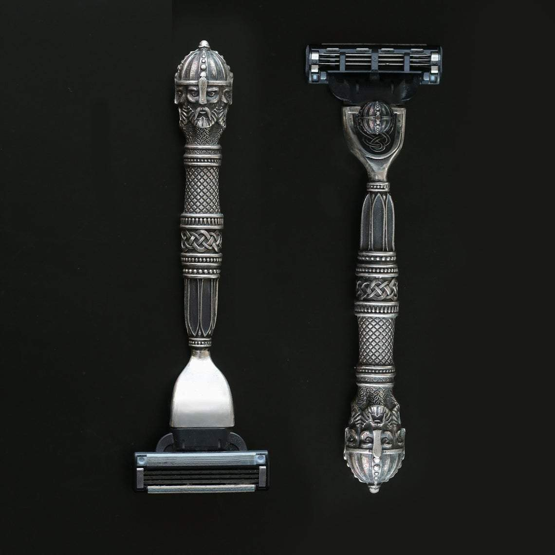 Razor Viking Gillette Mach3 Silver Slavic Warrior Straight Razor Ancient Treasures Ancientreasures Viking Odin Thor Mjolnir Celtic Ancient Egypt Norse Norse Mythology