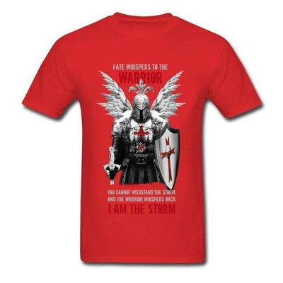 Red / S Templar Warrior Knights T-Shirt