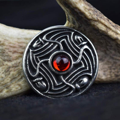 Red Viking Lofort Solid Pewter Disc Brooch Ancient Treasures Ancientreasures Viking Odin Thor Mjolnir Celtic Ancient Egypt Norse Norse Mythology