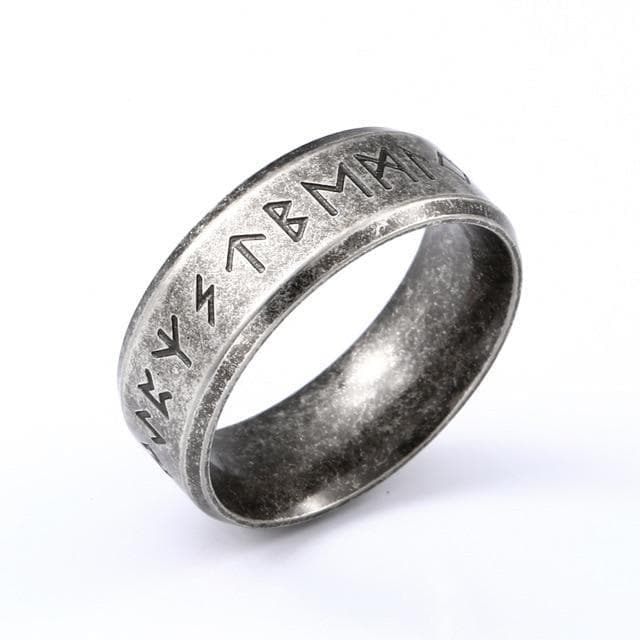 Rings 7 / 8mm Width Stainless Steel Elder Futhark Viking Ring Ancient Treasures Ancientreasures Viking Odin Thor Mjolnir Celtic Ancient Egypt Norse Norse Mythology