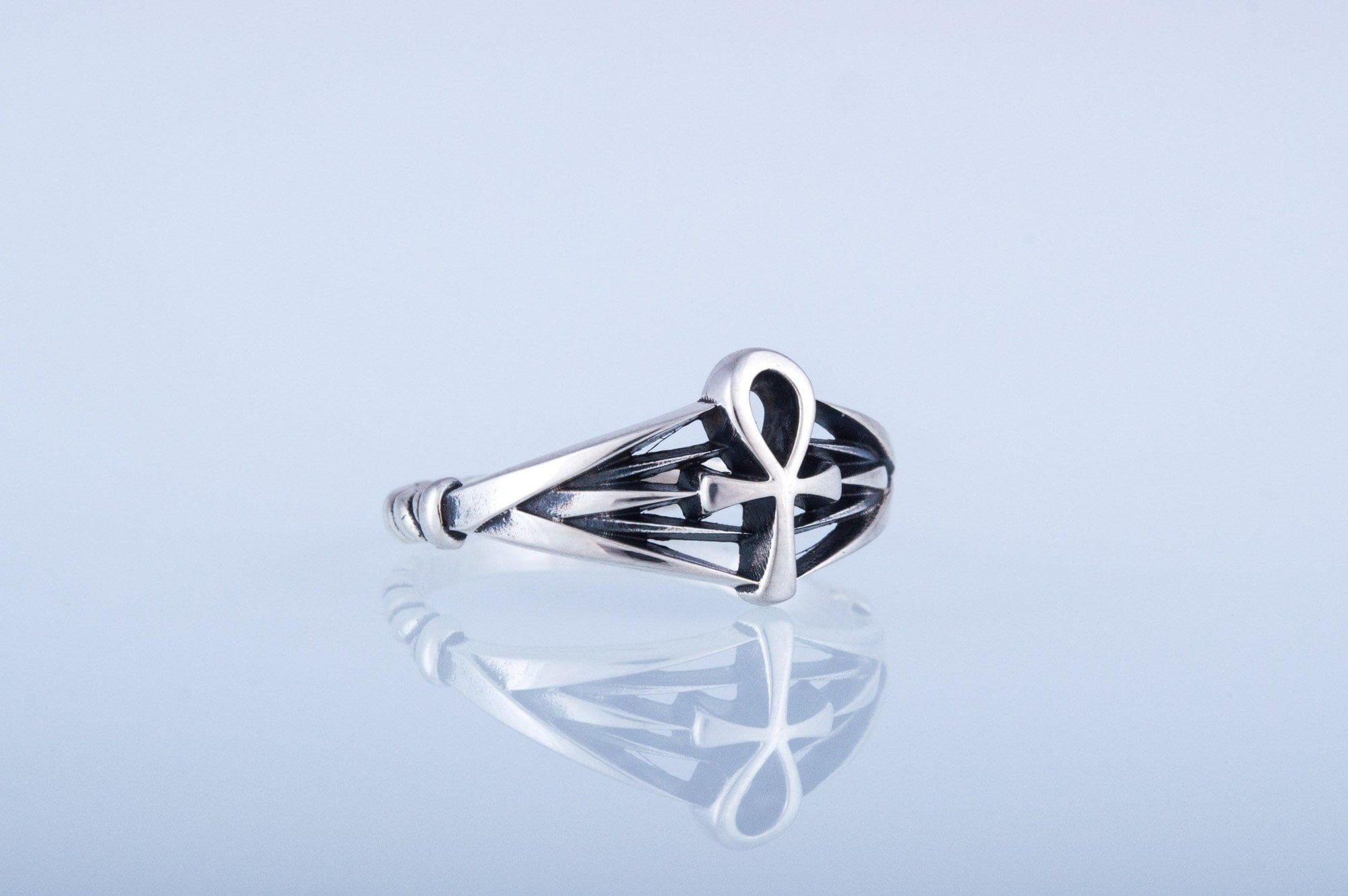 Rings Ancient Egypt Ankh Sterling Silver Ring Ancient Treasures Ancientreasures Viking Odin Thor Mjolnir Celtic Ancient Egypt Norse Norse Mythology