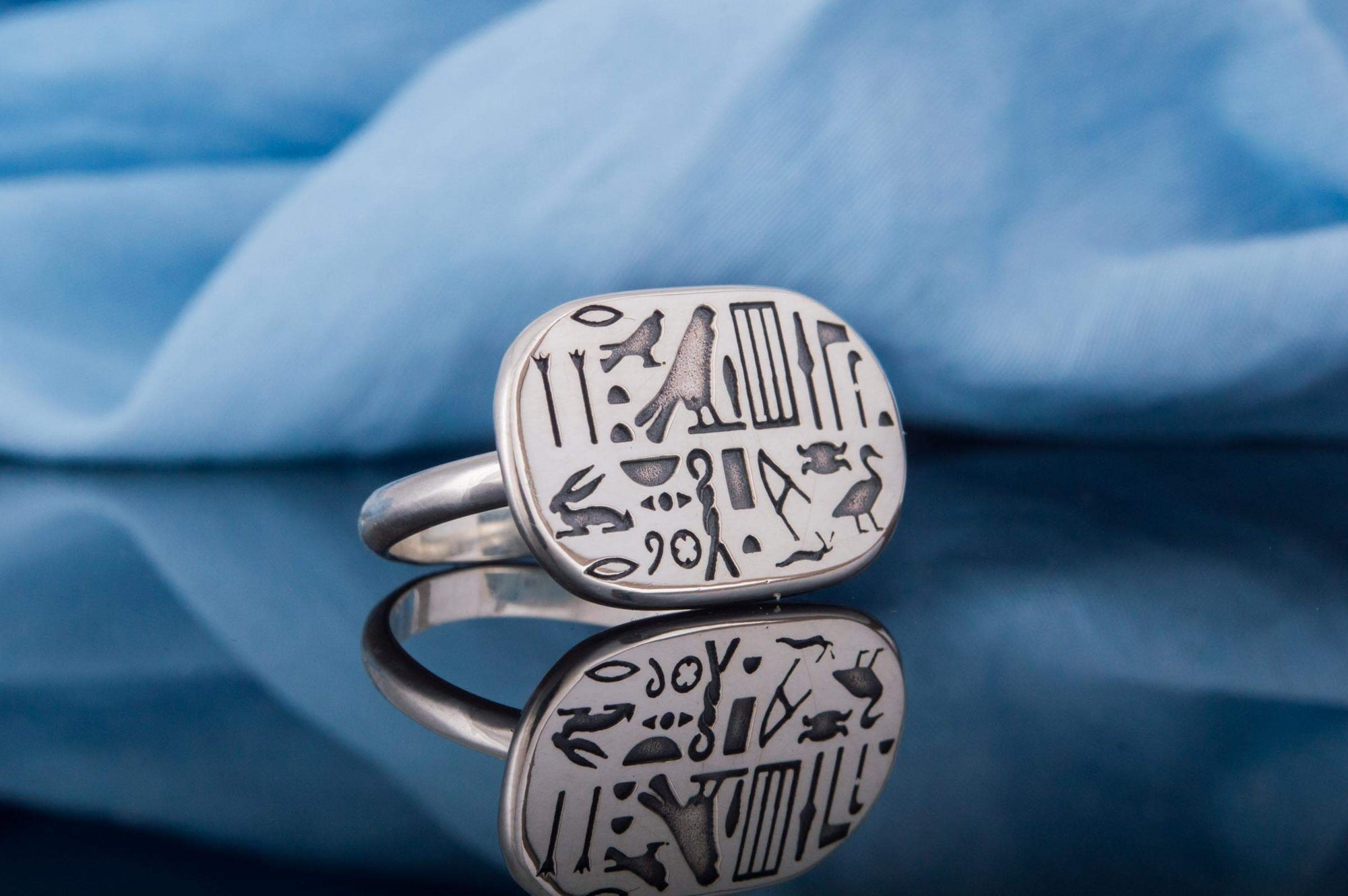 Rings Ancient Egypt Oval Hieroglyphics Sterling Silver Ring Ancient Treasures Ancientreasures Viking Odin Thor Mjolnir Celtic Ancient Egypt Norse Norse Mythology