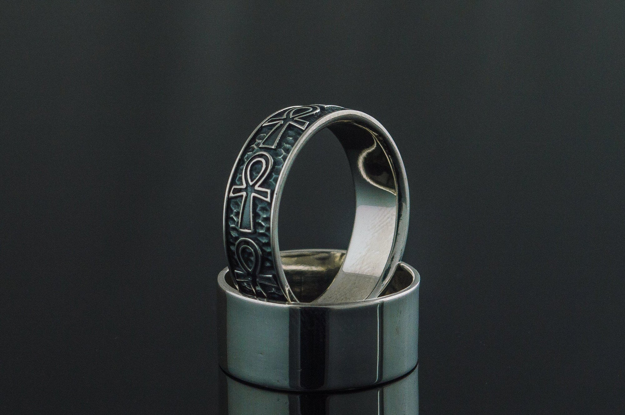 Rings Ancient Egypt Sterling Silver Unique Ankh Ring Ancient Treasures Ancientreasures Viking Odin Thor Mjolnir Celtic Ancient Egypt Norse Norse Mythology