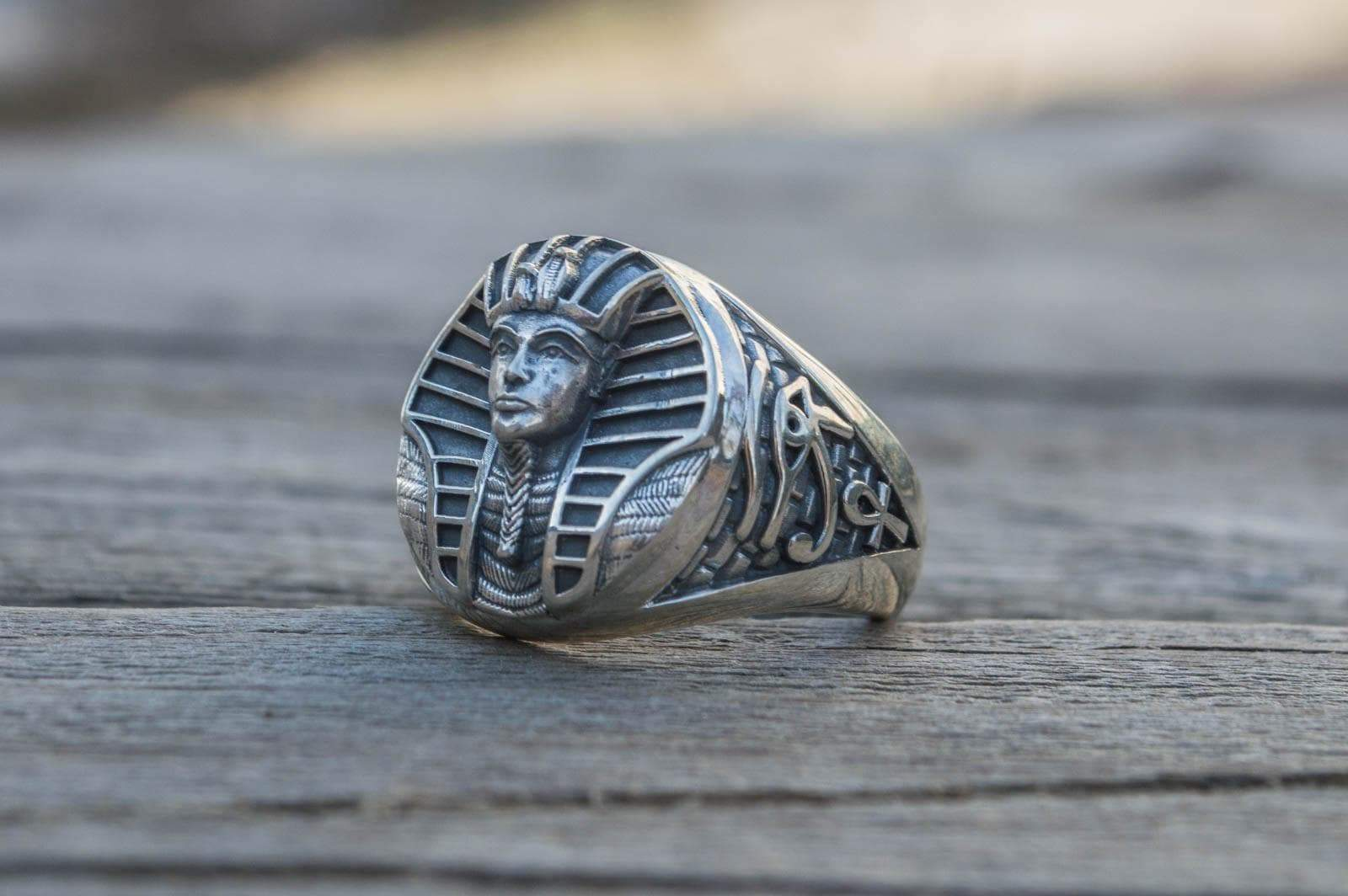 Rings Ancient Egypt Tutankhamun Sterling Silver Handmade Ring Ancient Treasures Ancientreasures Viking Odin Thor Mjolnir Celtic Ancient Egypt Norse Norse Mythology