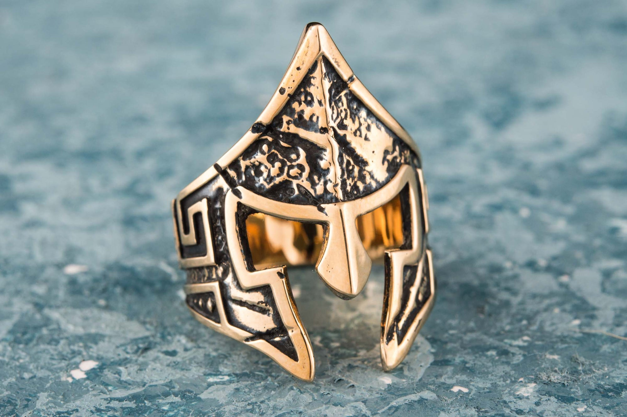 Rings Ancient Greece Unique Spartan Warrior Helmet Handmade Ring Ancient Treasures Ancientreasures Viking Odin Thor Mjolnir Celtic Ancient Egypt Norse Norse Mythology