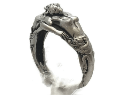 Ancient Greek Gods Zeus and Athena Sterling Silver Ring