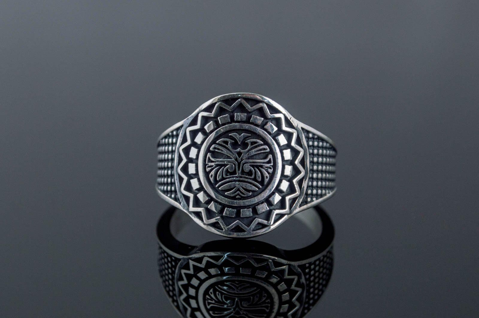 Rings Aztec Ornament Sterling Silver Handmade Ring Ancient Treasures Ancientreasures Viking Odin Thor Mjolnir Celtic Ancient Egypt Norse Norse Mythology