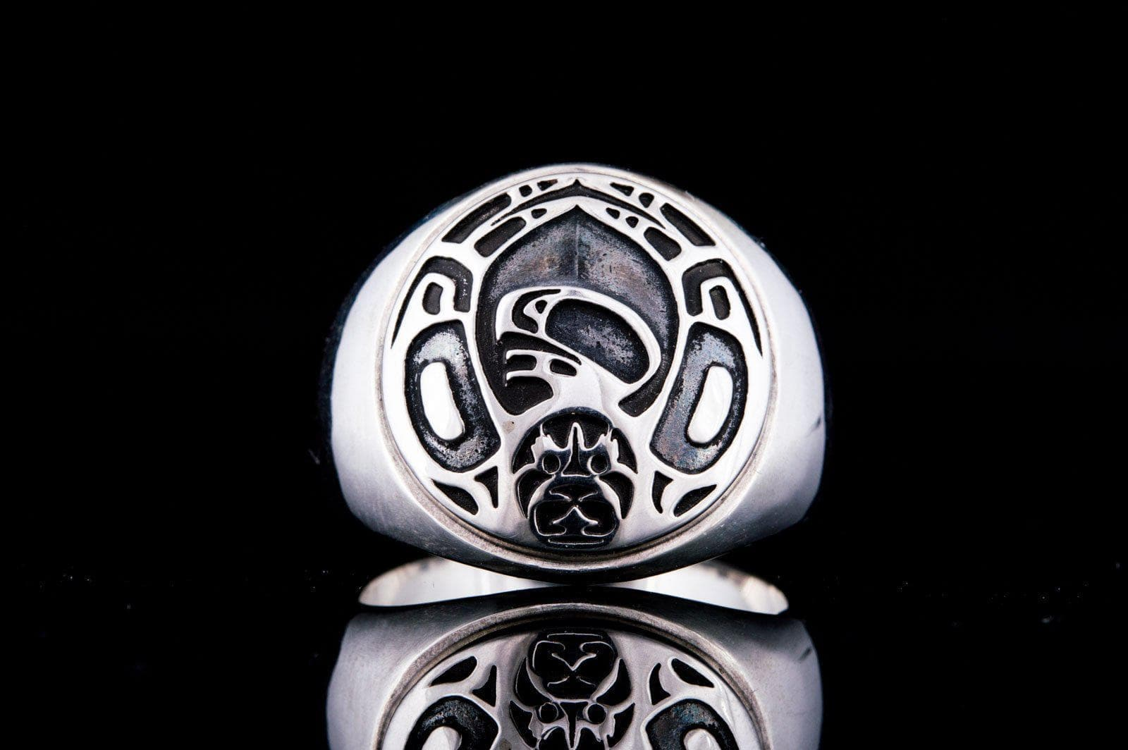 Rings Aztec Sterling Silver Handcrafted Ornament Ring Ancient Treasures Ancientreasures Viking Odin Thor Mjolnir Celtic Ancient Egypt Norse Norse Mythology