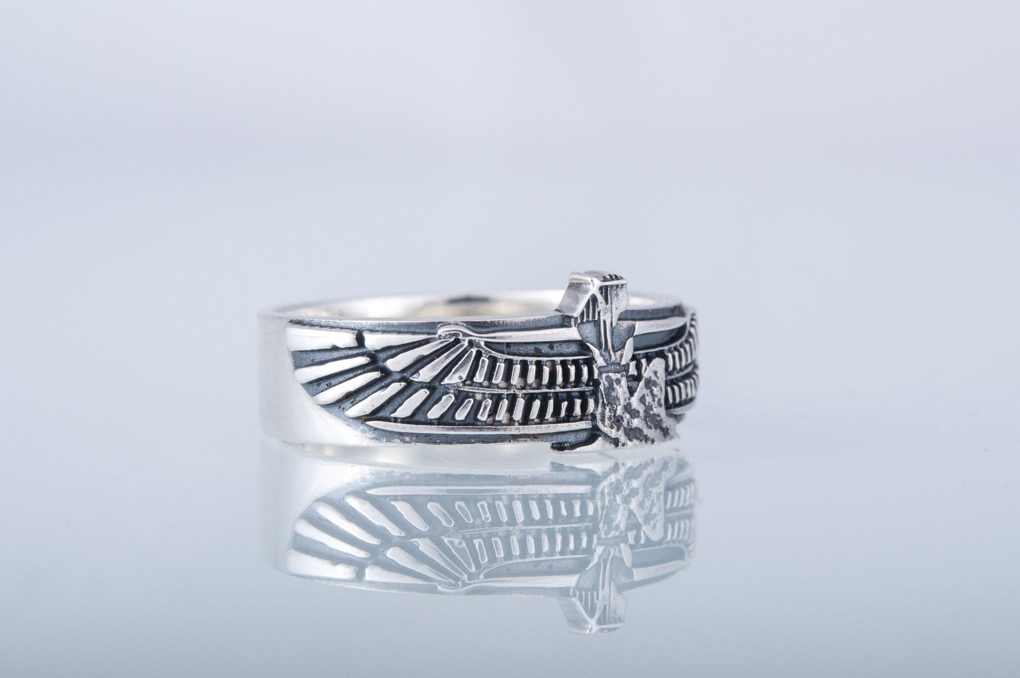 Rings Egyptian Goddess Isis Sterling Silver Handcrafted Ring Ancient Treasures Ancientreasures Viking Odin Thor Mjolnir Celtic Ancient Egypt Norse Norse Mythology