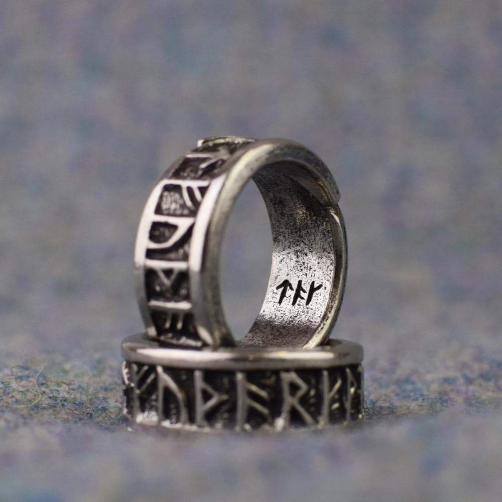 Vikings Runic Alphabet Adjustable Ring