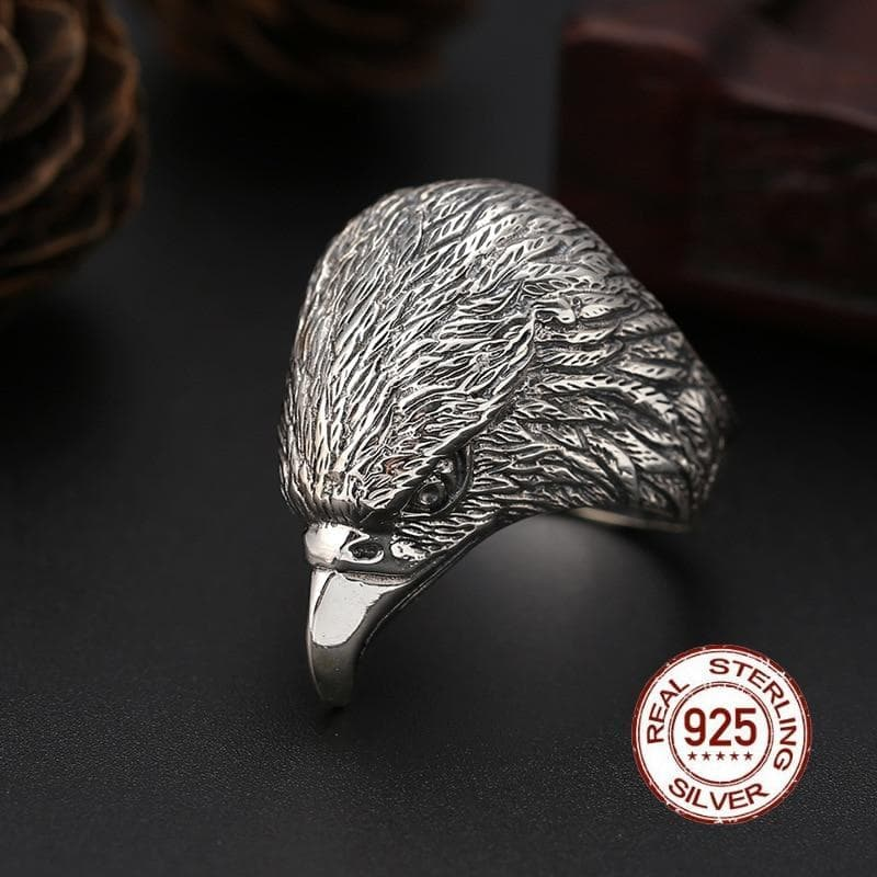 Rings Real 100% 925 Sterling Silver Ornament Ring for Men Thai Silver Cool Punk Eagle Index Finger Ring Big Rings Jewelry Gifts|Rings| Ancient Treasures Ancientreasures Viking Odin Thor Mjolnir Celtic Ancient Egypt Norse Norse Mythology