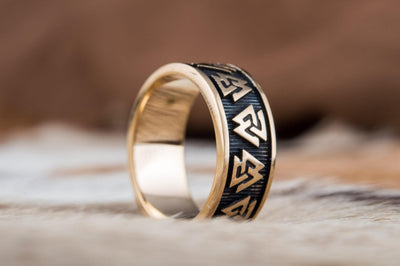 Rings Sterling Silver Ring with Valknut Symbols Ancient Treasures Ancientreasures Viking Odin Thor Mjolnir Celtic Ancient Egypt Norse Norse Mythology