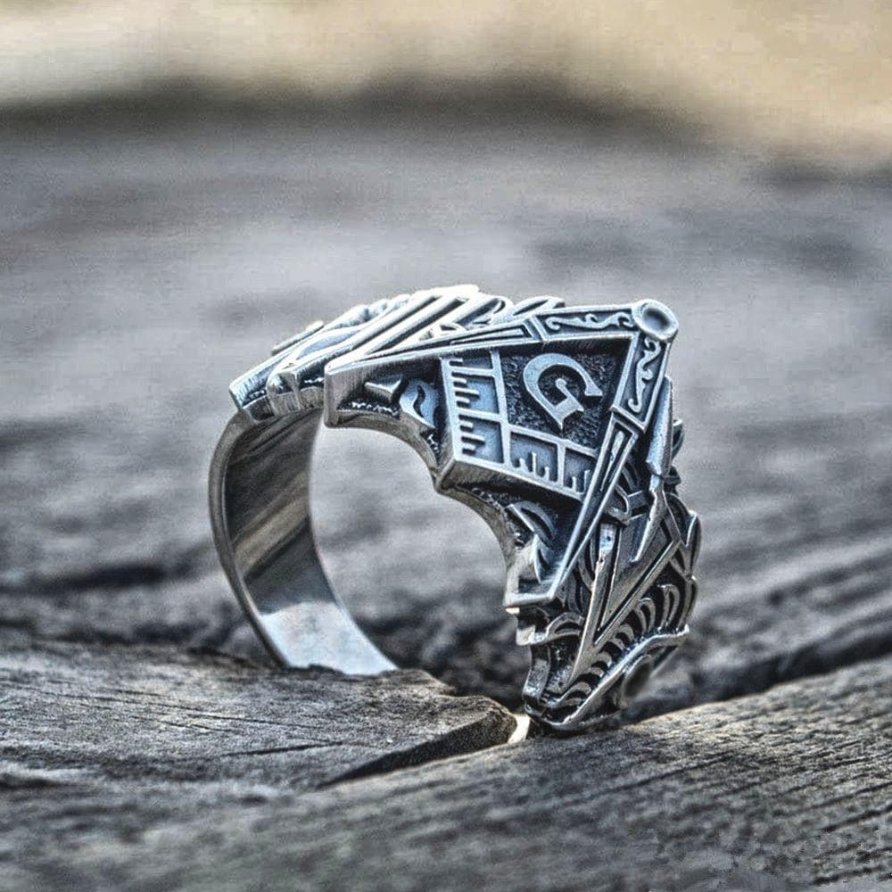 Rings Templar Freemason Masonic Symbol Stainless Steel Ancient Treasures Ancientreasures Viking Odin Thor Mjolnir Celtic Ancient Egypt Norse Norse Mythology
