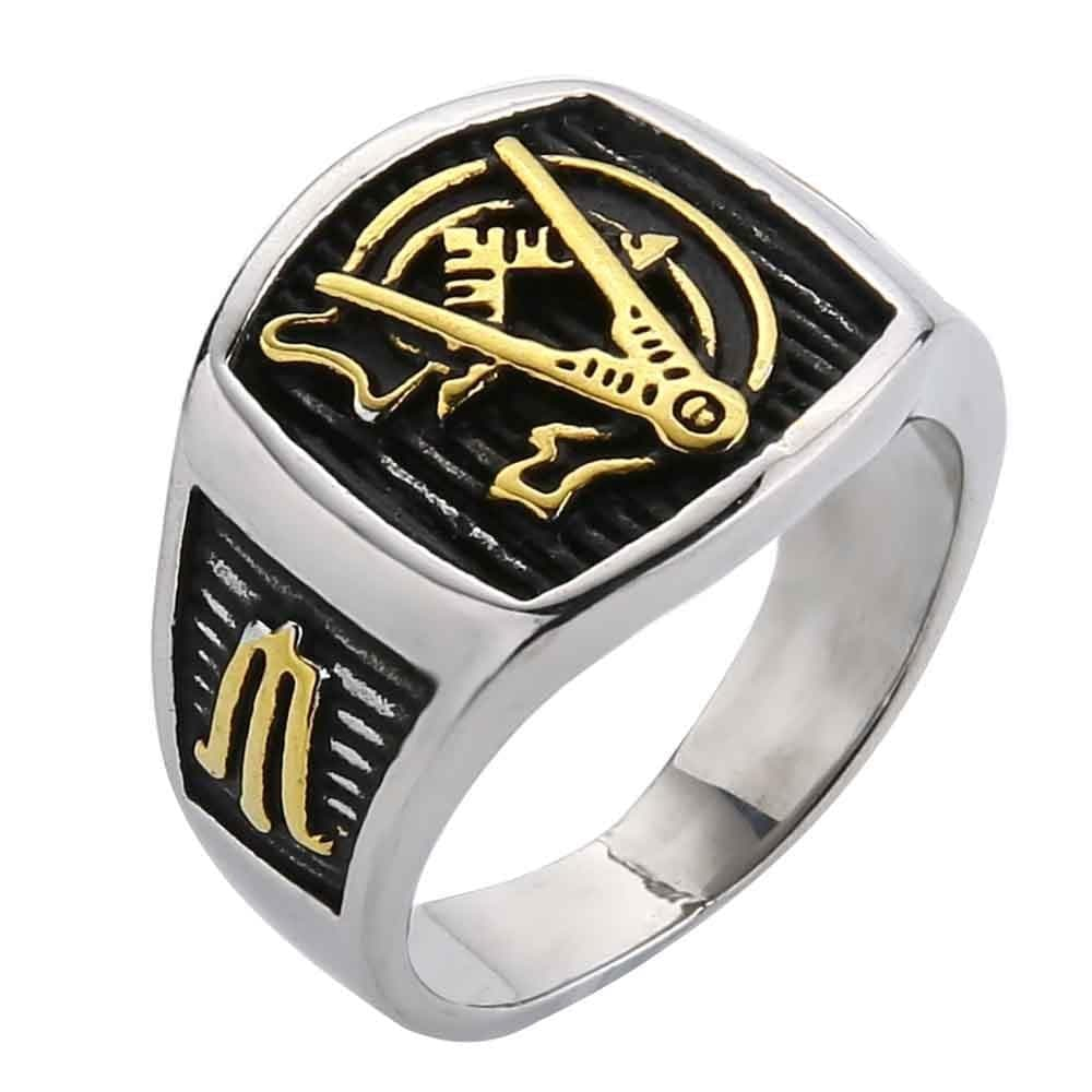 Rings Valily Jewelry Men's Masonic Ring stainless steel AG Mason Master Ring Freemason Vintage finger brand Gold rings For Women Male|gold rings for women|gold ringmasonic ring Ancient Treasures Ancientreasures Viking Odin Thor Mjolnir Celtic Ancient Egypt Norse Norse Mythology