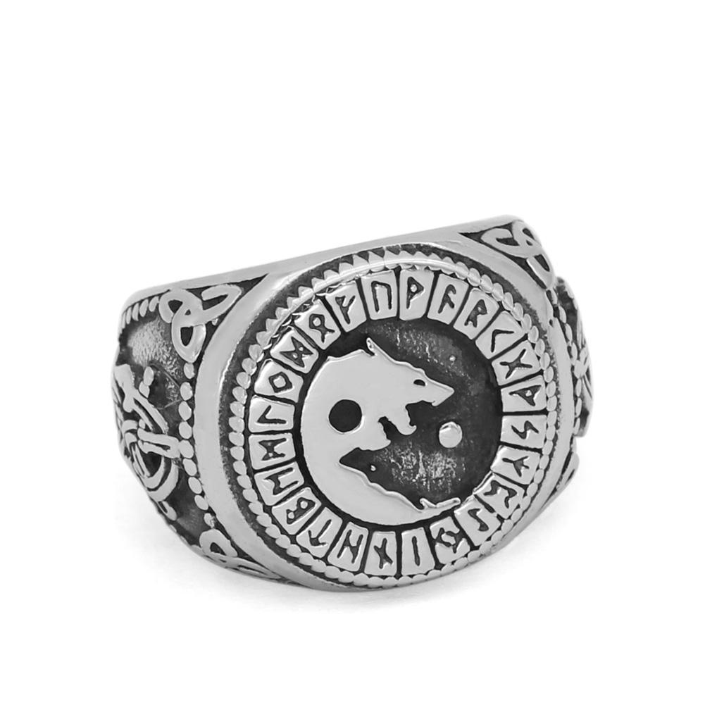 Viking Stainless Steel Wolf Ring