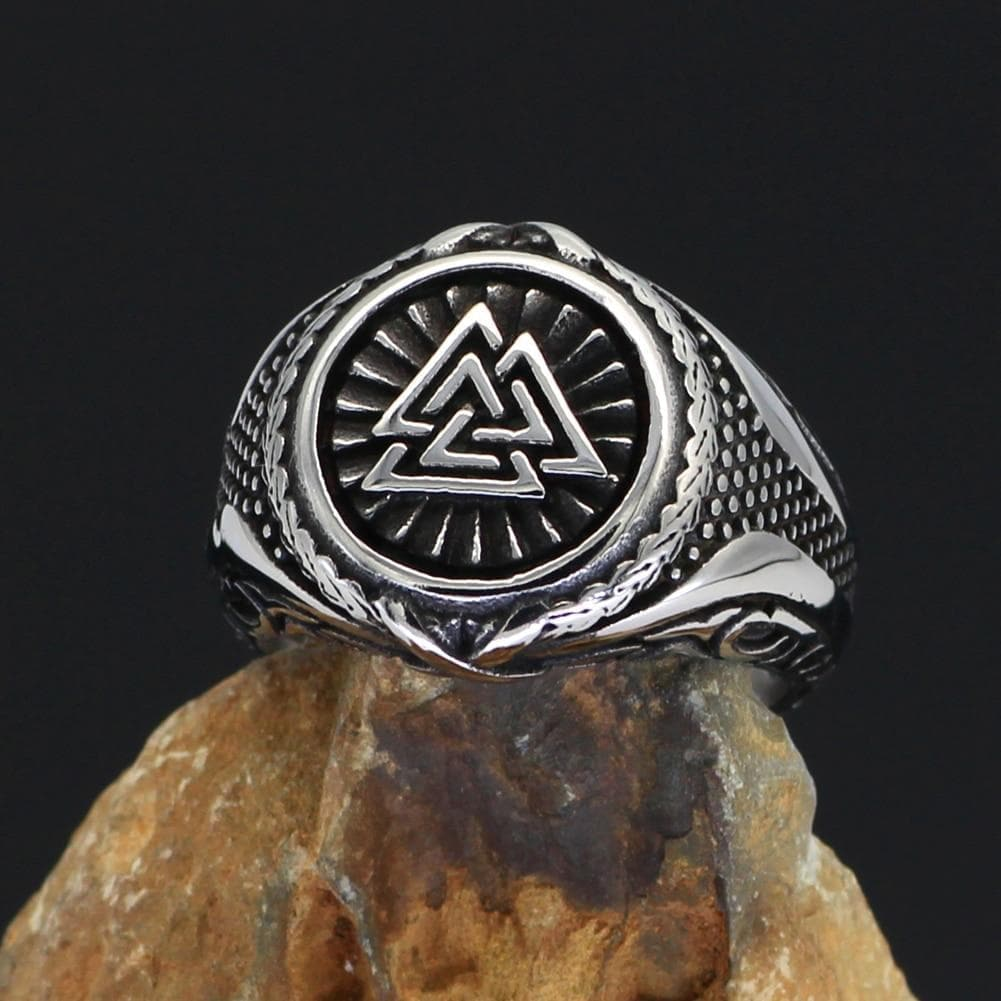 Rings Viking Valknut Knot Stainless Steel Ring Ancient Treasures Ancientreasures Viking Odin Thor Mjolnir Celtic Ancient Egypt Norse Norse Mythology