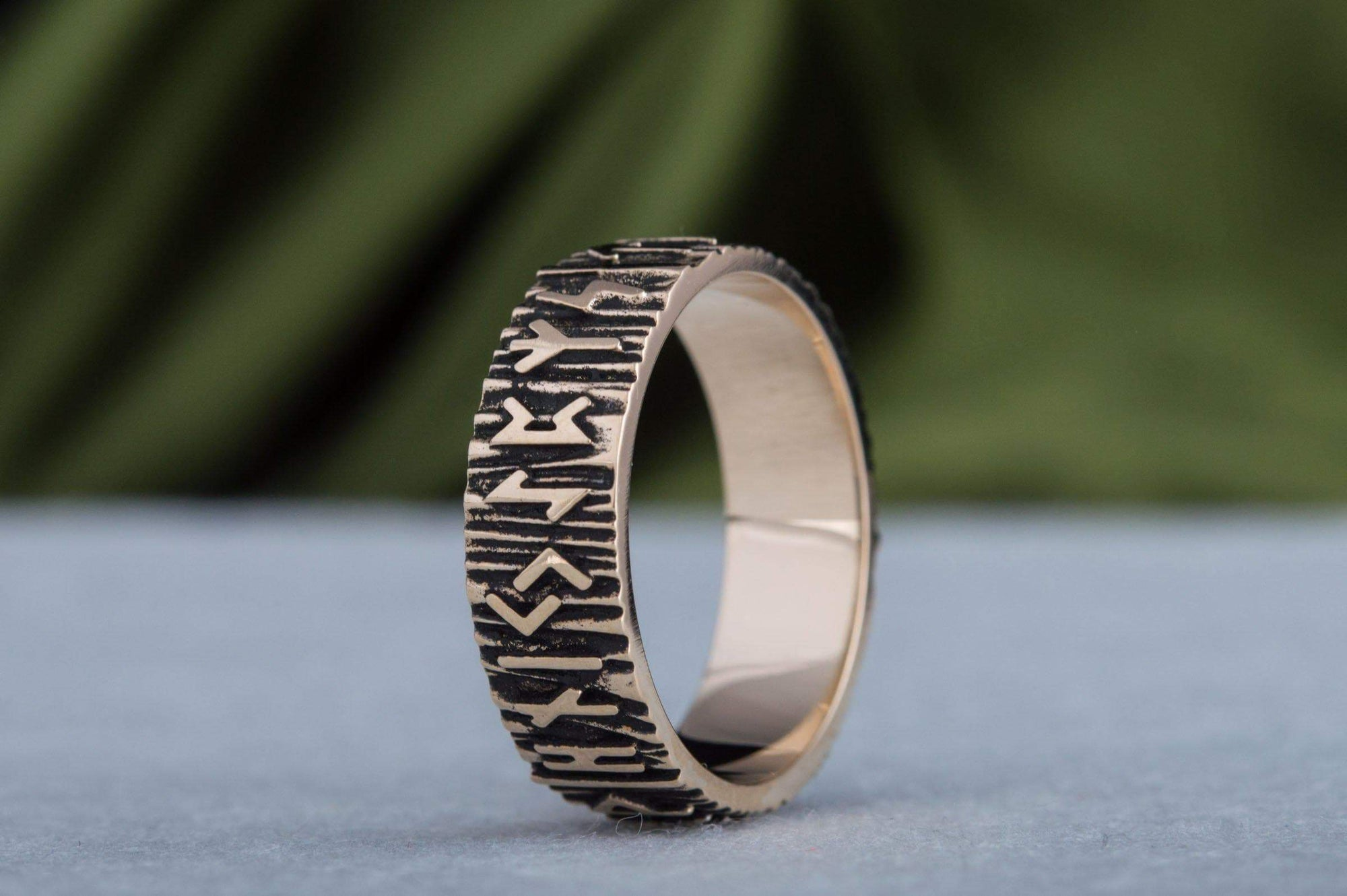 Rings Viking Wooden Textured Elder Futhark Runes Norse Ring Ancient Treasures Ancientreasures Viking Odin Thor Mjolnir Celtic Ancient Egypt Norse Norse Mythology