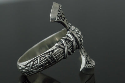 Rings Vikings Helm of Awe Triquetra Axe Sterling Silver Ring Ancient Treasures Ancientreasures Viking Odin Thor Mjolnir Celtic Ancient Egypt Norse Norse Mythology
