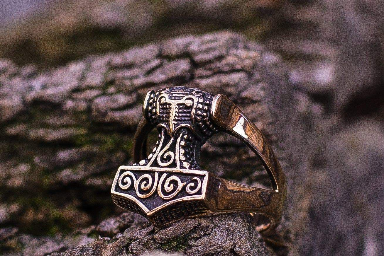 Rings Vikings Skane Thor's Hammer Bronze Rings Ancient Treasures Ancientreasures Viking Odin Thor Mjolnir Celtic Ancient Egypt Norse Norse Mythology