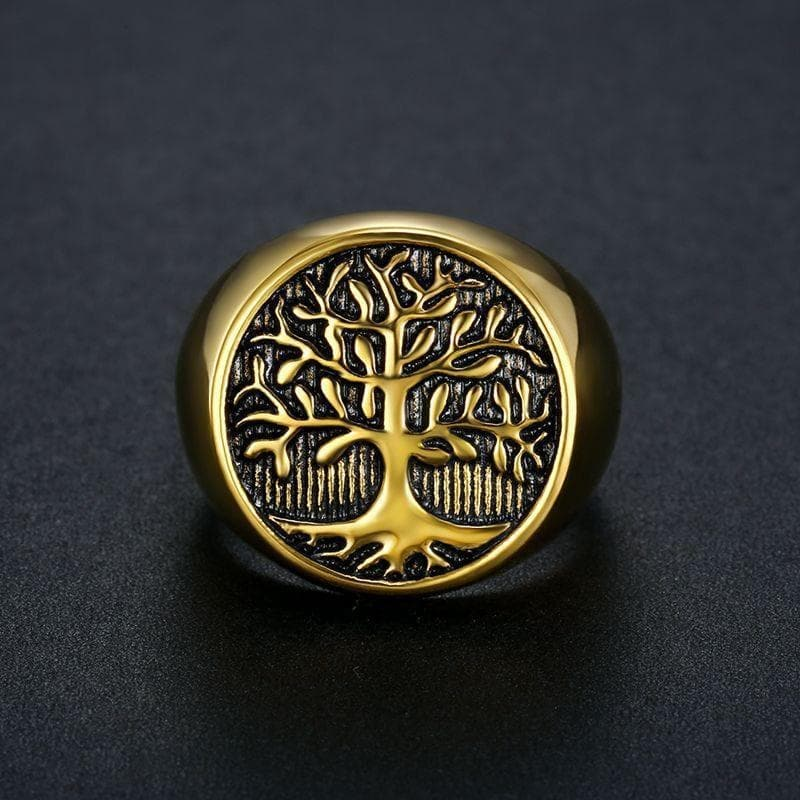 Rings Vikings Tree of Life Stainless Steel Ring Ancient Treasures Ancientreasures Viking Odin Thor Mjolnir Celtic Ancient Egypt Norse Norse Mythology
